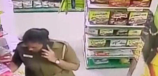 Supermarket employee stops Chennai policewoman from shoplifting, gets beaten up.