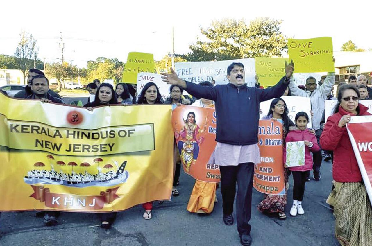Hindu-Americans are not happy with left government act at Sabarimala.