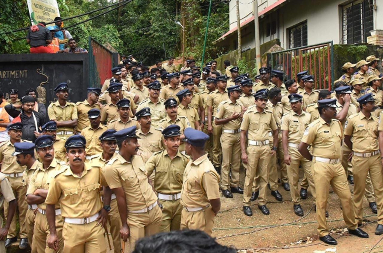 What is the police's objective at Sabarimala?
