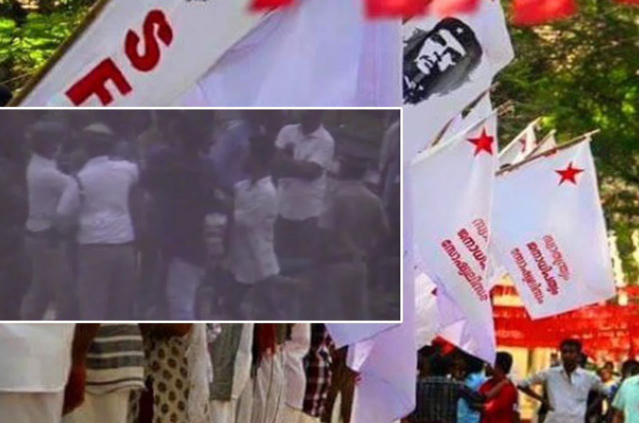 The police, who had attacked by SFI are forcefully discharged from hospital.