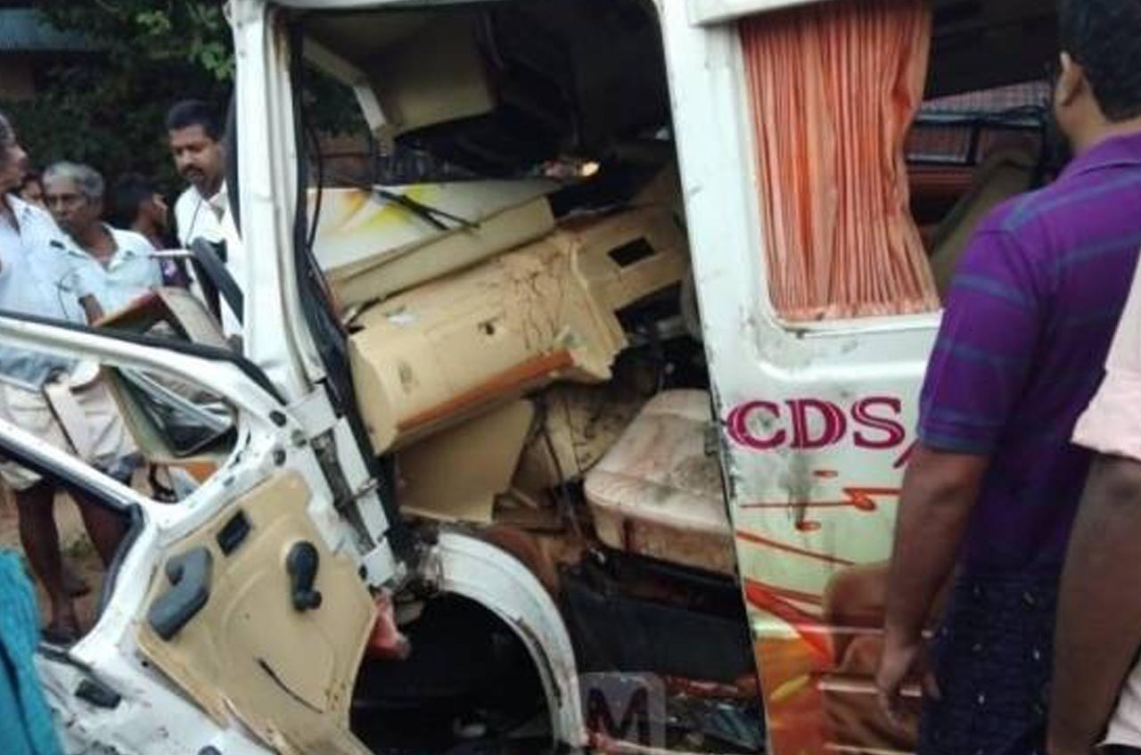 Accident at Kayamkulam 1 death and 16 injured.