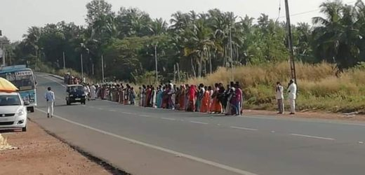 The Kerala government organized women's wall can't cover all over the state.