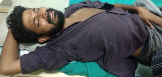 Police raj again at Sabarimala, Ayyappa Seva Sangam member Ganesh has serious injury and admitted at Kottayam medical college.