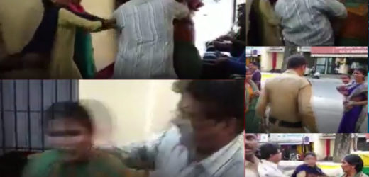 Karnataka police seen assault women inside the police station.