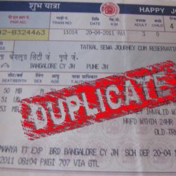 How to get a duplicate ticket using PNR number.