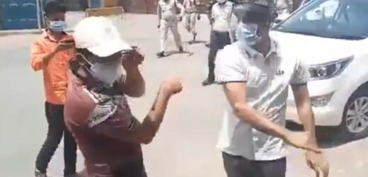 The collector slapped a boy on the face and threw the phone. The public demanded his suspension.