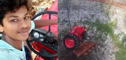 The tractor fell into a well while taking a selfie: The young man had a bad end.
