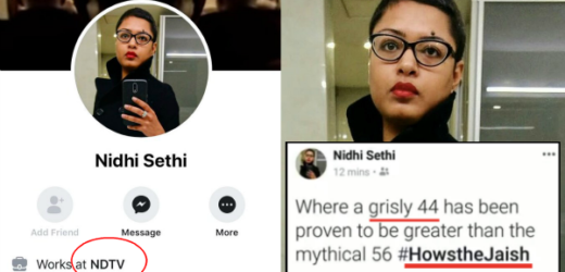 NDTV deputy news editor Nidhi Sethi had trouble after her support post of Jaish-e-Mohammed over Pulwama terror attack.