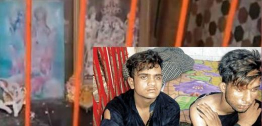 Muslim youths break Goddess Bhavani idol in Bijnor.